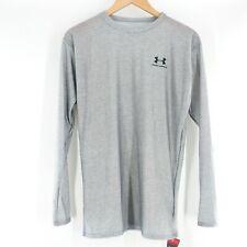 NWT Under Armour Heatgear Compression Shirt Long Sleeve Crew Top UPF 30 Mens XXL