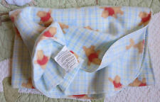 Disney Blue & Green Plaid Winnie the Pooh Bear Baby Boy Soft Fleece Blanket Euc