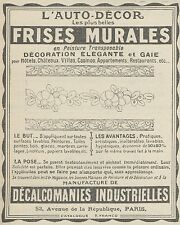 Z9806 L'Auto-Décor FRISES MURALES -  Pubblicità d'epoca - 1923 Old advertising