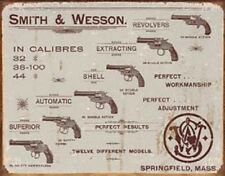 SMITH&WESSON REVOLVERS. METAL SIGN FREE SHIPPING.