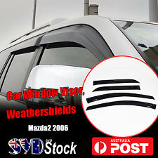 Weathershields Car Door Window Visor Deflectors Guards For Mazda 2 Hatch 2006