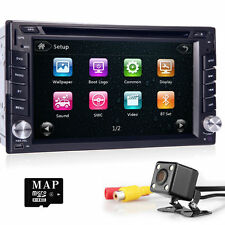 "Universal 6.2"" Double 2 Din Car Radio DVD CD Player GPS Bluetooth FM/AM + Camera"