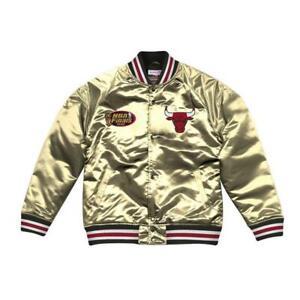Mitchell & Ness Men's Chicago Bulls Championship Satin Jacket ALL SIZES