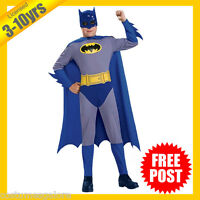 RUBIES Boys Costume Fancy Dress Licensed Comics Gotham City Batman Deluxe 883483