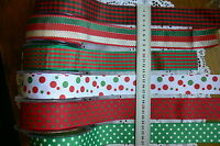 GROSGRAIN & Poly Spots&Stripes 3 Metres 38mm Wide May Arts 6 Variety Choice