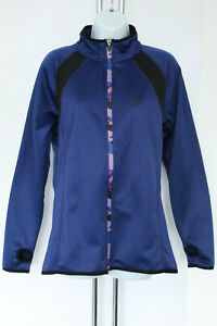 Marie Claire Fleece Fitted Full Zip Womens Jacket Dark Blue Size L