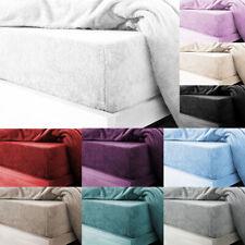 Teddy Fleece Fitted Sheet Single Double Super King Size Soft Warm Bed Sheet New