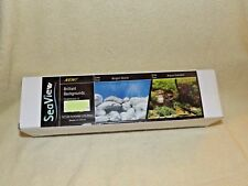Seaview Brilliant Backgrounds Fish Tank Aquarium Double Sided Background New (f)