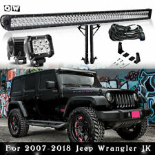 "For Jeep Wrangler JK UpperRoof  MOUNTING Mount BRACKETS W/ 52"" LED LIGHT BAR"