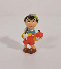 "2.25"" Pinocchio Apple & School Books PVC Plastic Action Figure Disney Applause"
