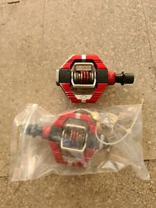 PEDALI MTB CRANK BROTHERS CANDY 7 PREMIUM ROSSO PEDALS RED + CLEATS NE EGGBEATER