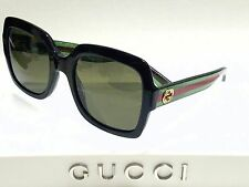 Authentic GUCCI GG0036S 002 Black Green/Brown Lens 54mm Square Women's