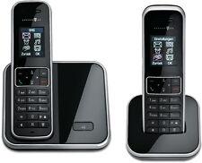 T-SINUS 405 Duo Schwarz Schnurlos Telefon mit 2 Mobilteilen Schnurloses Handteil