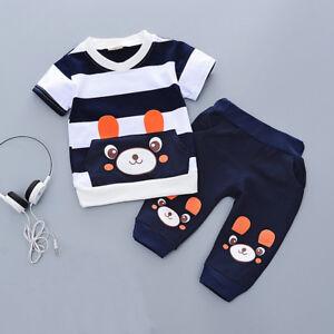 Toddler Kids Baby boys summer Outfits Clothes T-shirt& short Pants 2PCS Set