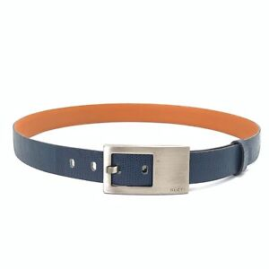 Handmade refurbished replacement blue lizard skin belt/original GUCCI buckle