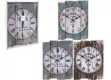 Unique Home DecorativeMDF RectangularWall-Clock With Roman & Numerical Dialed