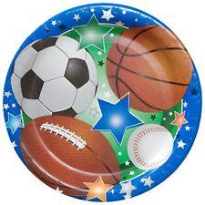Sports Theme Disposable Party Plates 36 ct Football Basketball Baseball Soccer