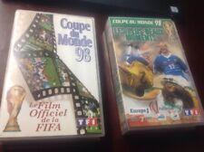 """Coupe Du Monde '98, Official Fifa Film & """"les Plus Beaux Moments"""", Pal Vhs"""