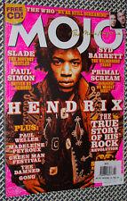 MOJO MAGAZINE, JIMI HENDRIX, The Who, Syd Barrett, Slade, Paul Weller, Gong