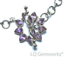AMETHYST 925 Sterling Silver 27mm Stone Toggle Clasp /AF