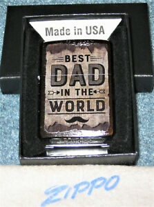 ZIPPO  BEST DAD IN THE WORLD Lighter FOR THE SPECIAL DAD Mint In Box NEW 2020