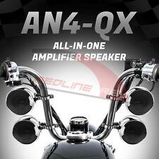 1200W Amp Motorcycle Waterproof Bluetooth Stereo 4 Speakers Audio System ATV RZR