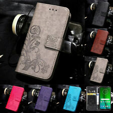 For Moto G6 G7 Play G7 Power Pattern Leather Magnetic Wallet Flip Case Cover