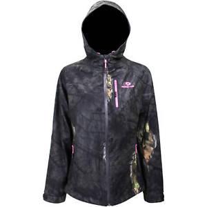 Mossy Oak - Ladies Black & Pink Break Up Eclipse Camo Hood Jacket (Large) - NWT