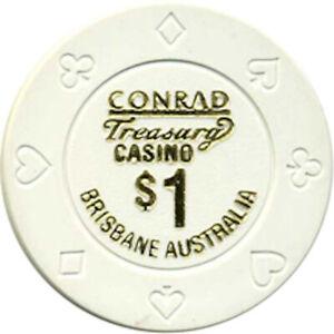 Treasury Casino Brisbane $1.00 Casino Chip - Queensland Australia #1