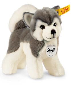 Steiff 'Bernie' Husky Dog - soft cuddly washable plush soft toy puppy - 104985