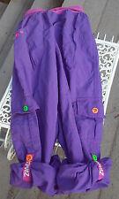 zumba cargo pants medium small highlighter purple pink