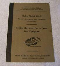 1934 PHILCO Model 200-X Circut and Adjusting Instructions