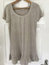 Natural Knit Dress Tunic Size L 14 UK