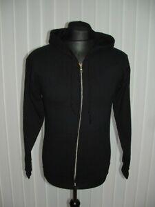 Gildan Womens Size S Graphic Cotton Blend Black Gung Ho Marathon Zip Up Hoodie (