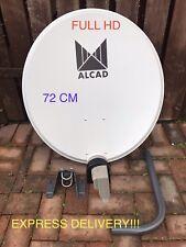 72 Cm Antena Parabólica sólido zona única soporte de LNB 1 y 2 Freesat Astra Polsat 4K