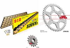 Triumph 1050 Speed Triple JT Z3 SUPER HEAVY Gold X-Ring Chain /& JT Sprocket Kit