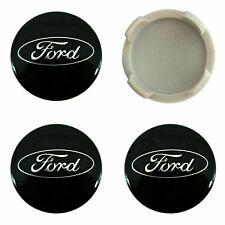 4 x Ford Aleación Centro De Rueda Caps 54mm negro-OEM se adapta a todos los Focus Fiesta KA KUGA
