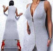 Unifarbene knielange Damenkleider aus Elastan