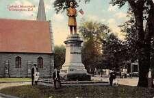 Wilmington Delaware Garfield Monument Street View Antique Postcard K33226
