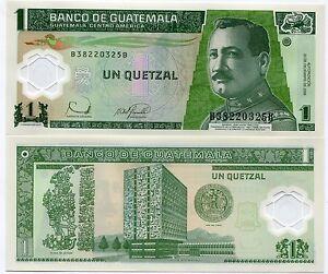 Guatemala 2006 P109 1 Quetzal Polymer Money Unc X 10 Note Lot