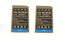 TWO 2X BLS-5 SBLS-5 Batteries for Olympus E-PL2, E-P3, E-PL3, E-PM1 PEN Digital