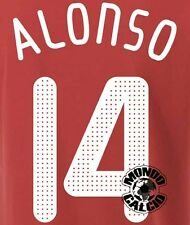 XABI ALONSO KIT LIVERPOOL CHAMPIONS LEAGUE NAME SET 2008-2010