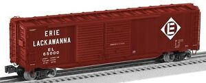 Lionel 17754 Erie Lackawanna 50' Double-Door Boxcars new in the box