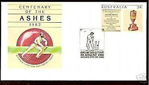 AUSTRALIA ASHES 1982 CRICKET CENTENARY PSE OBITUARY PMK