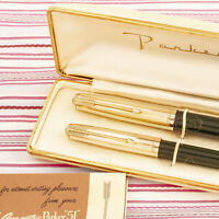 VINTAGE PARKER 51 GOLD FOREST GREEN FOUNTAIN PEN PENCIL BOX-SET NEW OLD STOCK