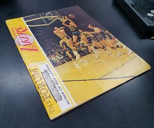 1968 Los Angeles LAKERS Official Program vs WARRIORS @the Forum