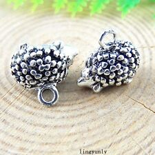 20pcs Antiqued Silver Alloy Cute Hedgehog Charms Pendant Jewelry Findings 51254