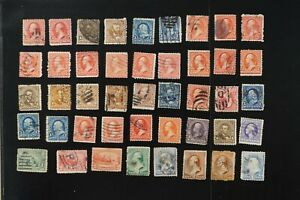 USA collection of F/VF used early stamps 2017 cv$140.00+ (k472)