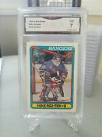 1990 O-Pee-Chee OPC #330 Mike Richter RC Rookie Graded GMA 7 NM