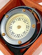 Nautical Gimballed Compass Wilcox Crittenden Original Wood Box  -Middletown CT